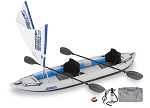 Sea Eagle 385ft Fasttrack Quiksail (Quicksail) Inflatable Kayak Package    *** On Back order will ship after  Oct 10th ***