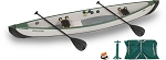 Sea Eagle Inflatable Travel Canoe TC16 Wood/Web Seat 2 Person Start Up Package TC16K_STW - Pay In Canadian Dollars