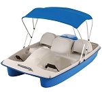 Sun Dolphin Water Wheeler ASL Electric Pedal - Paddle Boat BLUE WWLELBL04 UPC No 019862990077