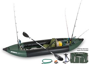 Sea Eagle the 350fx Deluxe Solo Fishing Explorer Inflatable Kayak