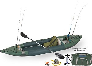 Sea Eagle 385fta FastTrack™ Deluxe Solo Angler Series Fishing Inflatable Kayak 385FTAK_DS