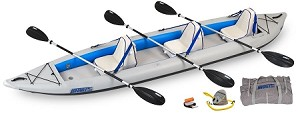Sea Eagle 465ft Fasttrack Deluxe 3 Person Kayak Package