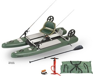 Sea Eagle SUPCat10 Pro Inflatable Fishing Stand-Up  Paddle Board Pontoon Boat